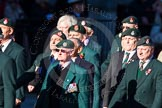 Remembrance Sunday Cenotaph March Past 2013: A16 - Royal Green Jackets Association.. Press stand opposite the Foreign Office building, Whitehall, London SW1, London, Greater London, United Kingdom, on 10 November 2013 at 11:56, image #1132