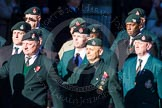 Remembrance Sunday Cenotaph March Past 2013: A16 - Royal Green Jackets Association.. Press stand opposite the Foreign Office building, Whitehall, London SW1, London, Greater London, United Kingdom, on 10 November 2013 at 11:56, image #1134