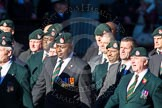 Remembrance Sunday Cenotaph March Past 2013: A16 - Royal Green Jackets Association.. Press stand opposite the Foreign Office building, Whitehall, London SW1, London, Greater London, United Kingdom, on 10 November 2013 at 11:56, image #1139