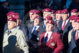 Remembrance Sunday Cenotaph March Past 2013: A17 - Parachute Regimental Association.. Press stand opposite the Foreign Office building, Whitehall, London SW1, London, Greater London, United Kingdom, on 10 November 2013 at 11:56, image #1164