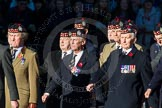 Remembrance Sunday Cenotaph March Past 2013: A20 - King's Own Scottish Borderers.. Press stand opposite the Foreign Office building, Whitehall, London SW1, London, Greater London, United Kingdom, on 10 November 2013 at 11:57, image #1194