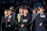 Remembrance Sunday Cenotaph March Past 2013: A20 - King's Own Scottish Borderers.. Press stand opposite the Foreign Office building, Whitehall, London SW1, London, Greater London, United Kingdom, on 10 November 2013 at 11:57, image #1195