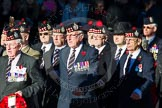 Remembrance Sunday Cenotaph March Past 2013: A20 - King's Own Scottish Borderers.. Press stand opposite the Foreign Office building, Whitehall, London SW1, London, Greater London, United Kingdom, on 10 November 2013 at 11:57, image #1199