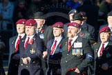 Remembrance Sunday Cenotaph March Past 2013: A29 - 4 Company Association (Parachute Regiment).. Press stand opposite the Foreign Office building, Whitehall, London SW1, London, Greater London, United Kingdom, on 10 November 2013 at 11:58, image #1264