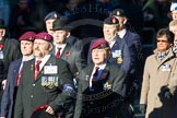 Remembrance Sunday Cenotaph March Past 2013: A29 - 4 Company Association (Parachute Regiment).. Press stand opposite the Foreign Office building, Whitehall, London SW1, London, Greater London, United Kingdom, on 10 November 2013 at 11:58, image #1265