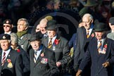 Remembrance Sunday Cenotaph March Past 2013: A32 - Royal East Kent Regiment (The Buffs) Past & Present Association.. Press stand opposite the Foreign Office building, Whitehall, London SW1, London, Greater London, United Kingdom, on 10 November 2013 at 11:58, image #1284
