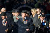 Remembrance Sunday Cenotaph March Past 2013: A32 - Royal East Kent Regiment (The Buffs) Past & Present Association.. Press stand opposite the Foreign Office building, Whitehall, London SW1, London, Greater London, United Kingdom, on 10 November 2013 at 11:58, image #1286