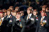 Remembrance Sunday Cenotaph March Past 2013: B5 - Kings Royal Hussars Regimental Association.. Press stand opposite the Foreign Office building, Whitehall, London SW1, London, Greater London, United Kingdom, on 10 November 2013 at 11:59, image #1329