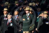 Remembrance Sunday Cenotaph March Past 2013: B7 - Gurkha Brigade Association.. Press stand opposite the Foreign Office building, Whitehall, London SW1, London, Greater London, United Kingdom, on 10 November 2013 at 11:59, image #1344