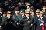 Remembrance Sunday Cenotaph March Past 2013: B7 - Gurkha Brigade Association.. Press stand opposite the Foreign Office building, Whitehall, London SW1, London, Greater London, United Kingdom, on 10 November 2013 at 11:59, image #1346