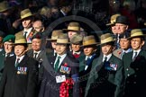 Remembrance Sunday Cenotaph March Past 2013: B7 - Gurkha Brigade Association.. Press stand opposite the Foreign Office building, Whitehall, London SW1, London, Greater London, United Kingdom, on 10 November 2013 at 11:59, image #1347