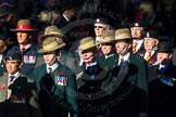 Remembrance Sunday Cenotaph March Past 2013: B7 - Gurkha Brigade Association.. Press stand opposite the Foreign Office building, Whitehall, London SW1, London, Greater London, United Kingdom, on 10 November 2013 at 11:59, image #1350
