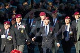 Remembrance Sunday Cenotaph March Past 2013: B22 - Airborne Engineers Association.. Press stand opposite the Foreign Office building, Whitehall, London SW1, London, Greater London, United Kingdom, on 10 November 2013 at 12:02, image #1486