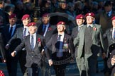Remembrance Sunday Cenotaph March Past 2013: B22 - Airborne Engineers Association.. Press stand opposite the Foreign Office building, Whitehall, London SW1, London, Greater London, United Kingdom, on 10 November 2013 at 12:02, image #1488