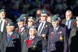Remembrance Sunday Cenotaph March Past 2013: C10 - National Service (Royal Air Force) Association.. Press stand opposite the Foreign Office building, Whitehall, London SW1, London, Greater London, United Kingdom, on 10 November 2013 at 12:07, image #1772