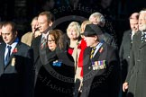 Remembrance Sunday Cenotaph March Past 2013: M33 - Ministry of Defence.. Press stand opposite the Foreign Office building, Whitehall, London SW1, London, Greater London, United Kingdom, on 10 November 2013 at 12:12, image #2128