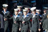 Remembrance Sunday Cenotaph March Past 2013: M45 - Sea Cadet Corps.. Press stand opposite the Foreign Office building, Whitehall, London SW1, London, Greater London, United Kingdom, on 10 November 2013 at 12:14, image #2215