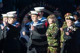 Remembrance Sunday Cenotaph March Past 2013: M45 - Sea Cadet Corps.. Press stand opposite the Foreign Office building, Whitehall, London SW1, London, Greater London, United Kingdom, on 10 November 2013 at 12:14, image #2218