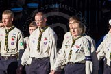 Remembrance Sunday Cenotaph March Past 2013: M49 - Scout Association.. Press stand opposite the Foreign Office building, Whitehall, London SW1, London, Greater London, United Kingdom, on 10 November 2013 at 12:15, image #2255