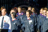 Remembrance Sunday Cenotaph March Past 2013: M52 - Girls Brigade England & Wales.. Press stand opposite the Foreign Office building, Whitehall, London SW1, London, Greater London, United Kingdom, on 10 November 2013 at 12:15, image #2286