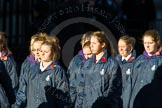 Remembrance Sunday Cenotaph March Past 2013: M52 - Girls Brigade England & Wales.. Press stand opposite the Foreign Office building, Whitehall, London SW1, London, Greater London, United Kingdom, on 10 November 2013 at 12:15, image #2289