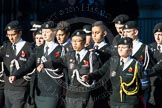Remembrance Sunday Cenotaph March Past 2013: M55 - St John Ambulance Cadets.. Press stand opposite the Foreign Office building, Whitehall, London SW1, London, Greater London, United Kingdom, on 10 November 2013 at 12:16, image #2317