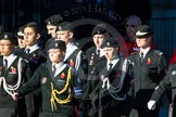 Remembrance Sunday Cenotaph March Past 2013: M55 - St John Ambulance Cadets.. Press stand opposite the Foreign Office building, Whitehall, London SW1, London, Greater London, United Kingdom, on 10 November 2013 at 12:16, image #2319