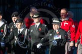 Remembrance Sunday Cenotaph March Past 2013: M55 - St John Ambulance Cadets.. Press stand opposite the Foreign Office building, Whitehall, London SW1, London, Greater London, United Kingdom, on 10 November 2013 at 12:16, image #2321