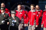 Remembrance Sunday Cenotaph March Past 2013: M55 - St John Ambulance Cadets.. Press stand opposite the Foreign Office building, Whitehall, London SW1, London, Greater London, United Kingdom, on 10 November 2013 at 12:16, image #2323