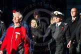 Remembrance Sunday Cenotaph March Past 2013: M56 - British Red Cross.. Press stand opposite the Foreign Office building, Whitehall, London SW1, London, Greater London, United Kingdom, on 10 November 2013 at 12:16, image #2331