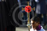 The Cross Bearer, Johan de Silva, with the focus on the cross with the four poppies.