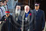 The Faith Communities: The Reverend Bill Darlison, Rabbi Laura Janner-Klausner, Commissioner Clive Adams, His Eminence The Archbishop Gregorios of Thyateria and Great Britain.