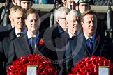 The Prime Minister-The Rt Hon David Cameron MP, the Leader of the Liberal Democrat Party-The Rt Hon Nick Clegg, follow by the Rt Hon Sir John Major, the Rt Hon Tony Blair.