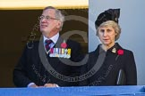 THR The Duke and Duchess of Gloucester on one of the balconies of the Foreign- and Commonwealth Office building.