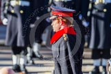 HRH Prince Henry of Wales, saluting in respect after having laid his wreath at the Cenotaph.