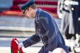 HRH The Duke of Cambridge, about to lay his wreath at the Cenotaph.