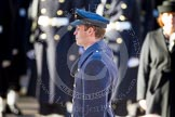 HRH The Duke of Cambridge, saluting in respect after having laid his wreath at the Cenotaph.