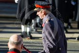 HRH The Duke of Kent, bowing in respect after having laid his wreaths at the Cenotaph.