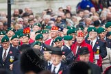 Remembrance Sunday at the Cenotaph in London 2014: Group E1, Royal Marines Association, leading column E. Press stand opposite the Foreign Office building, Whitehall, London SW1, London, Greater London, United Kingdom, on 09 November 2014 at 11:32, image #4