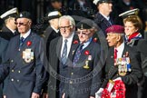 Remembrance Sunday at the Cenotaph in London 2014: Group F1 - Normandy Veterans Association. Press stand opposite the Foreign Office building, Whitehall, London SW1, London, Greater London, United Kingdom, on 09 November 2014 at 11:37, image #16