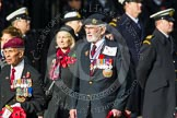 Remembrance Sunday at the Cenotaph in London 2014: Group F1 - Normandy Veterans Association. Press stand opposite the Foreign Office building, Whitehall, London SW1, London, Greater London, United Kingdom, on 09 November 2014 at 11:37, image #17