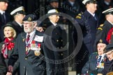 Remembrance Sunday at the Cenotaph in London 2014: Group F1 - Normandy Veterans Association. Press stand opposite the Foreign Office building, Whitehall, London SW1, London, Greater London, United Kingdom, on 09 November 2014 at 11:37, image #18