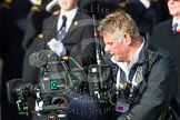 Remembrance Sunday at the Cenotaph in London 2014: The stedycam operator for the VVC live broadcast with group C1, the R.A.F. Association. Press stand opposite the Foreign Office building, Whitehall, London SW1, London, Greater London, United Kingdom, on 09 November 2014 at 11:37, image #21