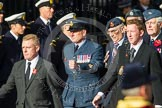 Remembrance Sunday at the Cenotaph in London 2014: Group C2 - Royal Air Force Regiment Association. Press stand opposite the Foreign Office building, Whitehall, London SW1, London, Greater London, United Kingdom, on 09 November 2014 at 11:37, image #28
