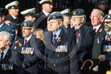 Remembrance Sunday at the Cenotaph in London 2014: Group C2 - Royal Air Force Regiment Association. Press stand opposite the Foreign Office building, Whitehall, London SW1, London, Greater London, United Kingdom, on 09 November 2014 at 11:37, image #35