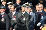 Remembrance Sunday at the Cenotaph in London 2014: Group C2 - Royal Air Force Regiment Association. Press stand opposite the Foreign Office building, Whitehall, London SW1, London, Greater London, United Kingdom, on 09 November 2014 at 11:37, image #38