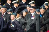 Remembrance Sunday at the Cenotaph in London 2014: Group C2 - Royal Air Force Regiment Association. Press stand opposite the Foreign Office building, Whitehall, London SW1, London, Greater London, United Kingdom, on 09 November 2014 at 11:37, image #46