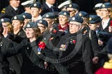 Remembrance Sunday at the Cenotaph in London 2014: Group C2 - Royal Air Force Regiment Association. Press stand opposite the Foreign Office building, Whitehall, London SW1, London, Greater London, United Kingdom, on 09 November 2014 at 11:38, image #50