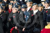 Remembrance Sunday at the Cenotaph in London 2014: Group C2 - Royal Air Force Regiment Association. Press stand opposite the Foreign Office building, Whitehall, London SW1, London, Greater London, United Kingdom, on 09 November 2014 at 11:38, image #51