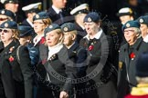 Remembrance Sunday at the Cenotaph in London 2014: Group C2 - Royal Air Force Regiment Association. Press stand opposite the Foreign Office building, Whitehall, London SW1, London, Greater London, United Kingdom, on 09 November 2014 at 11:38, image #52
